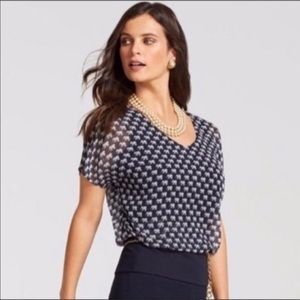 Cabi | Elephant Parade Navy Layered Blouse